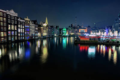 Photograph - Amsterdam Night by Nadia Sanowar
