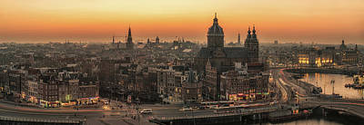 Nederland Photograph - Amsterdam Panorama by Reinier Snijders