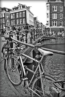 Photograph - Amsterdam Perspective In Black And White by Carol Groenen
