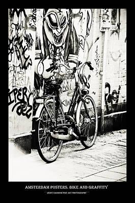 Photograph - Amsterdam Posters. Bike And Graffiti by Jenny Rainbow
