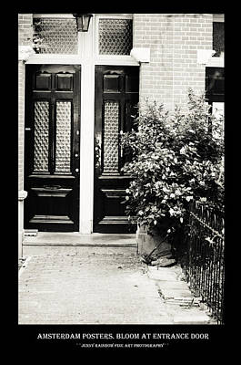 Photograph - Amsterdam Posters. Bloom At Entrance Door by Jenny Rainbow
