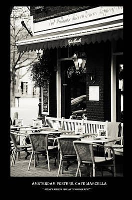 Photograph - Amsterdam Posters. Cafe Marcella by Jenny Rainbow