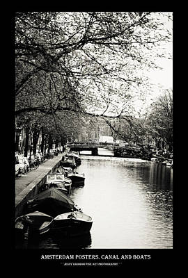 Photograph - Amsterdam Posters. Canal And Boats by Jenny Rainbow