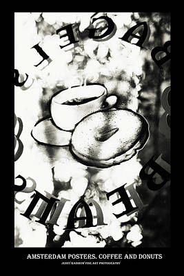 Photograph - Amsterdam Posters. Coffee And Dontas by Jenny Rainbow