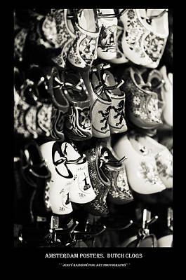 Photograph - Amsterdam Posters. Dutch Clogs by Jenny Rainbow