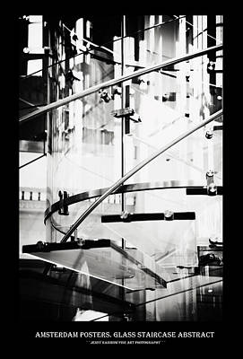 Photograph - Amsterdam Posters. Glass Staircase Abstract by Jenny Rainbow