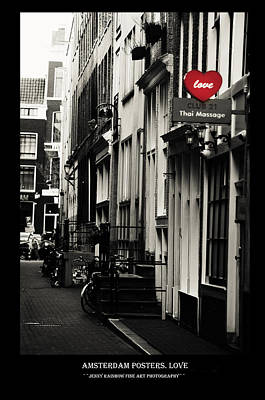 Photograph - Amsterdam Posters. Love by Jenny Rainbow