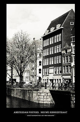 Photograph - Amsterdam Posters. Nieuwe Ridderstraat by Jenny Rainbow