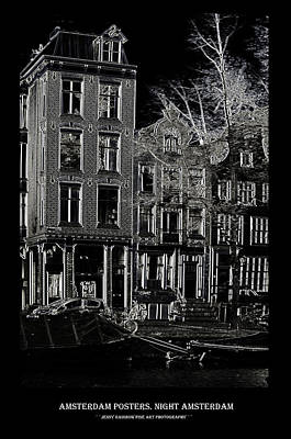 Photograph - Amsterdam Posters. Night Amsterdam by Jenny Rainbow