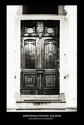 Photograph - Amsterdam Posters. Old Door by Jenny Rainbow