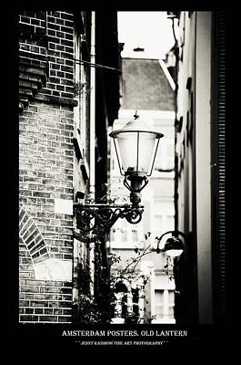 Photograph - Amsterdam Posters. Old Lantern by Jenny Rainbow