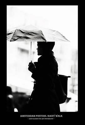 Photograph - Amsterdam Posters. Rainy Walk by Jenny Rainbow