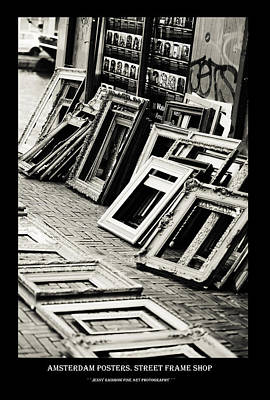 Photograph - Amsterdam Posters. Street Frame Shop by Jenny Rainbow