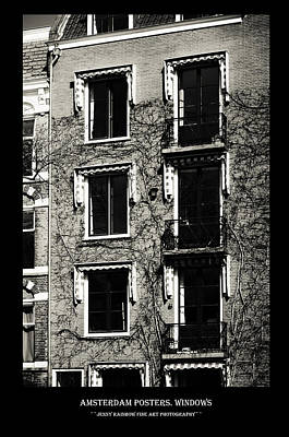 Photograph - Amsterdam Posters. Windows by Jenny Rainbow