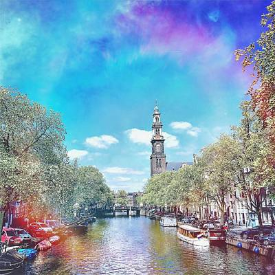 Photograph - Amsterdam, Prinsengracht by Greetje Kamps