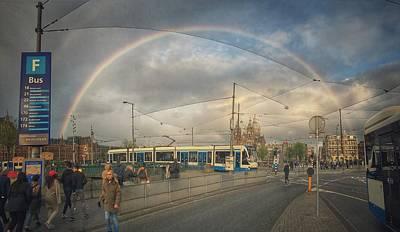Photograph - Amsterdam Rainbow by Greetje Kamps