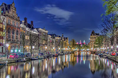 Photograph - Amsterdam Reflections by Nadia Sanowar