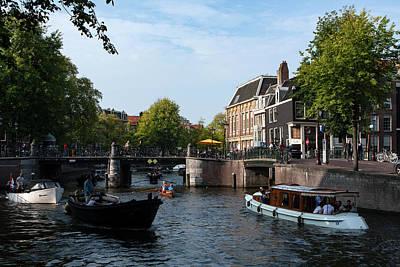 Photograph - Amsterdam Riverlife by Aidan Moran