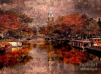 Mixed Media - Amsterdam by Rod Jellison