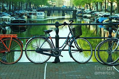 Art Print featuring the photograph Amsterdam Scene by Allen Beatty