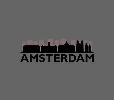 Illustration Digital Art - Amsterdam Skyline by Marco Livolsi