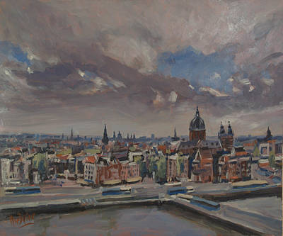 Painting - Amsterdam Skyline by Nop Briex