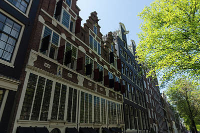 Photograph - Amsterdam Spring - Elegant Facades Since Year 1642 - Right by Georgia Mizuleva