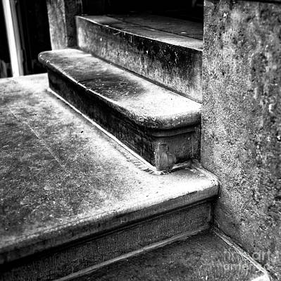 Photograph - Amsterdam Stair Dimensions Mono by John Rizzuto