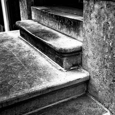 Amsterdam Stair Dimensions Mono Art Print by John Rizzuto