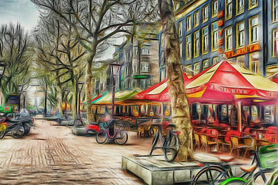 Digital Art - Amsterdam Street Colors by Yury Malkov