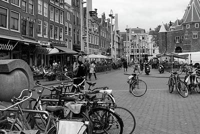 Photograph - Amsterdam Street Scene by Aidan Moran
