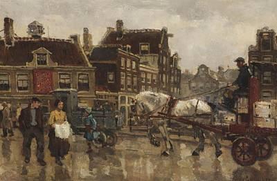 Kingdom Painting - Amsterdam Street Scene by MotionAge Designs