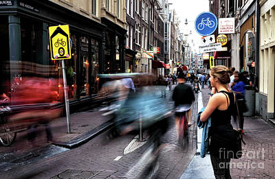 Photograph - Amsterdam Street Speed by John Rizzuto