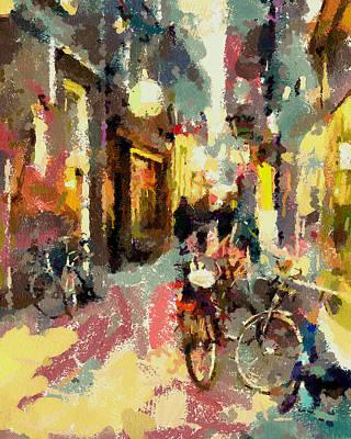 Amsterdam Digital Art - Amsterdam Streets View 3 by Yury Malkov