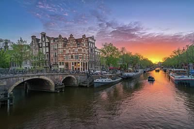 Photograph - Amsterdam Sunset by Edwin Mooijaart