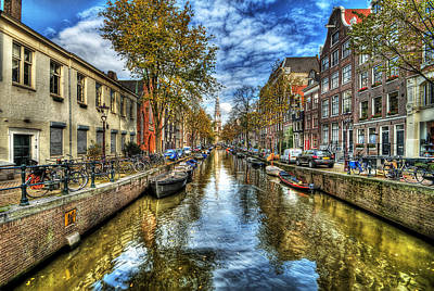 Colorful Boats Wall Art - Photograph - Amsterdam by Svetlana Sewell