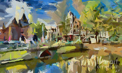 Painting - Amsterdam - The City On Water by Sergey Lukashin