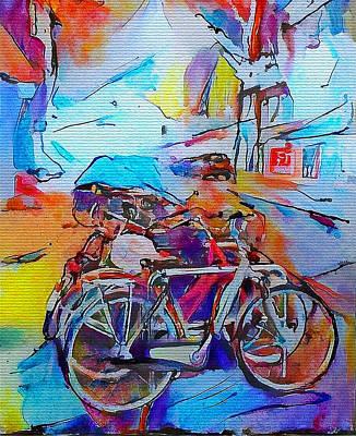 Amsterdam Digital Art - Amsterdam Transport by Yury Malkov