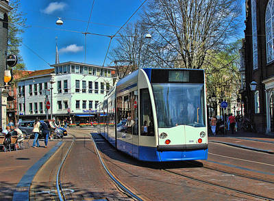 Photograph - Amsterdam Trolley by Allen Beatty