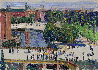 Streetscape Painting - Amsterdam, View From The Window by Wassily Kandinsky