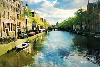 Digital Art - Amsterdam Waterways by Judy Palkimas