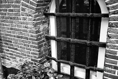 Amsterdam Window Bars Mono Print by John Rizzuto