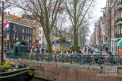 Photograph - Amsterdam With Bikes by Patricia Hofmeester