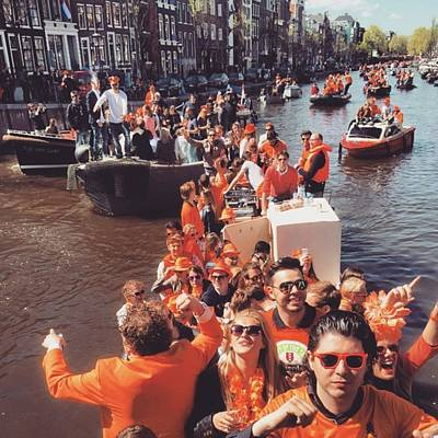 Koningsdag Photograph - Amsterdammer Boats  #boats #koningsdag by Alessandro Parca