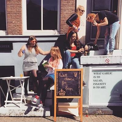 Koningsdag Photograph - Amsterdammer Ladies  #ladies by Alessandro Parca