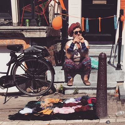 Koningsdag Photograph - Amsterdammer Old Lady  #lady by Alessandro Parca