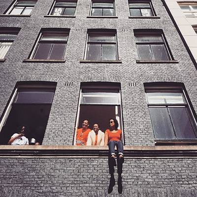 Koningsdag Photograph - Amsterdammer Windows #ladies by Alessandro Parca