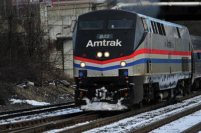 Photograph - Amtrak 822  by Mike Martin