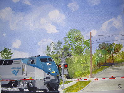 Amtrak Art Print