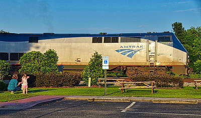 Photograph - Amtrak Engine by Linda Brown